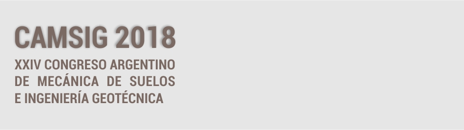Próximo XXIV CAMSIG ! Congreso Argentino de Mecánica de Suelos e Ingeniería Geotécnica   SAIG