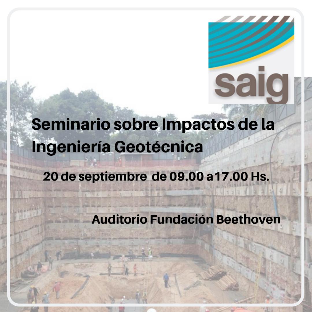 Seminario sobre Impactos de la Ingeniería Geotécnica